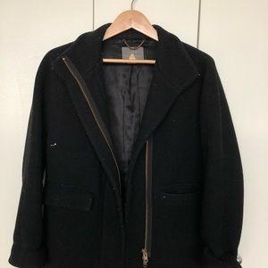 JCrew black wool coat